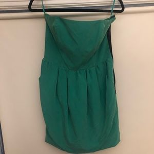 Green Strapless Mini Dress